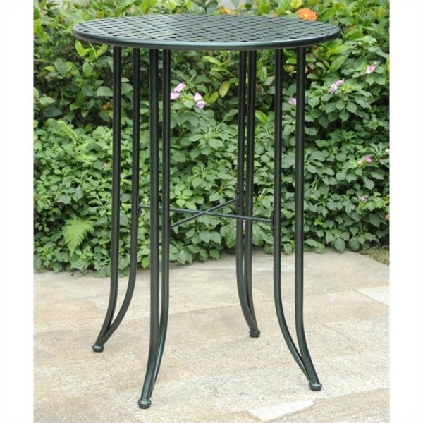 outdoor patio bar height tables Features:
