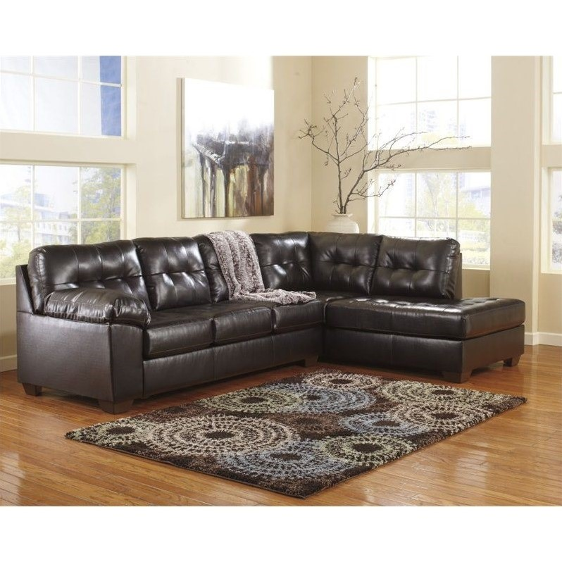 signature design by ashley alliston 2 piece sectional in chocolate