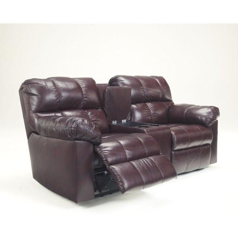 Ashley Furniture Kennard Double Reclining Leather Loveseat