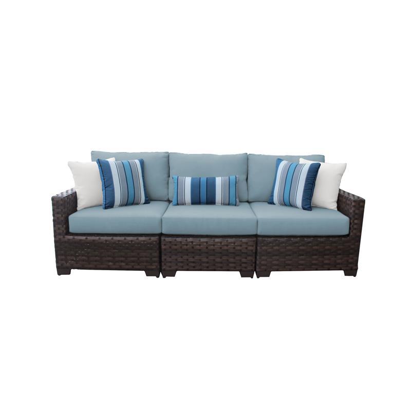 kathy ireland river brook 3 piece outdoor wicker patio furniture set 03c in spa