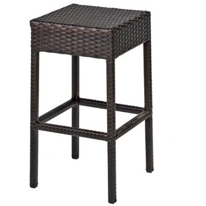 Outdoor Bar Stools   Cymax Stores TKC Napa Backless Outdoor Wicker Bar Stools in Espresso