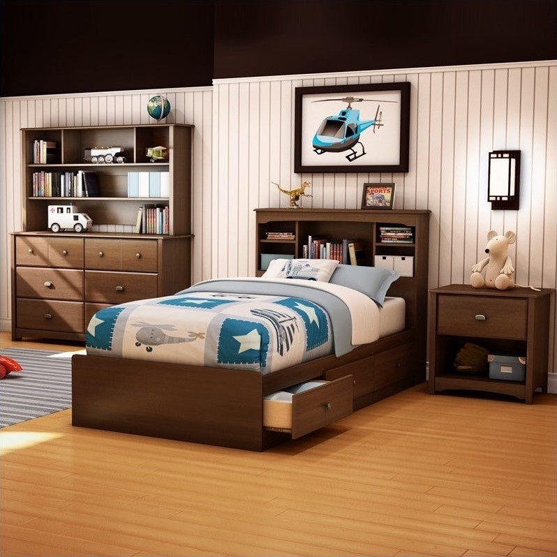 South Shore Nathan Kids Twin Mates Bed 3 Piece Bedroom Set