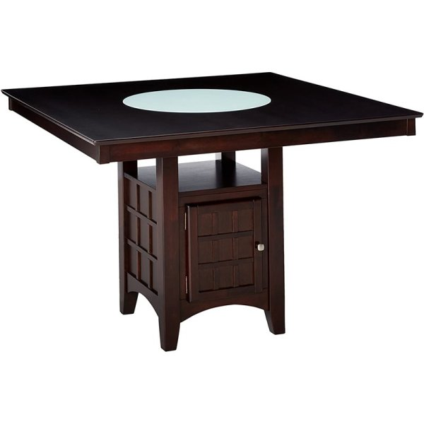 counter height storage dining table Bowery Hill Counter Height Square Dining Table with