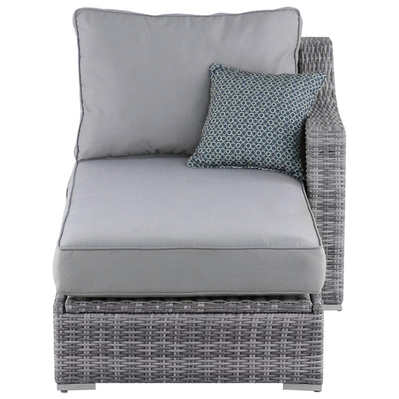 elle decor vallauris wicker patio storage sectional in gray
