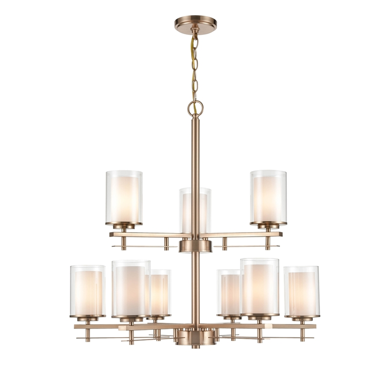 millennium lighting metal chandelier ceiling light in modern gold