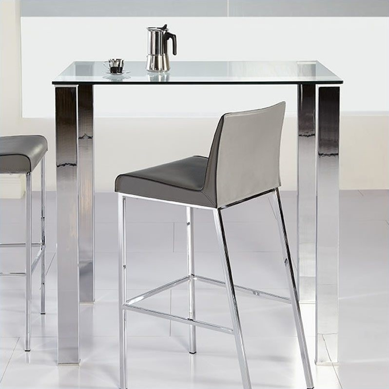 Eurostyle Beth Glass Bar Table In Clear 38704A 38704G KIT