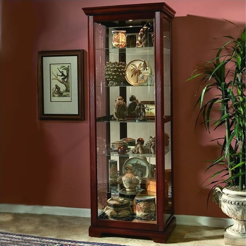 Pulaski Victorian Cherry Curio Cabinet 20717