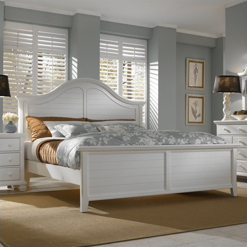 Broyhill Mirren Harbor Arched Panel Bed In White 4024