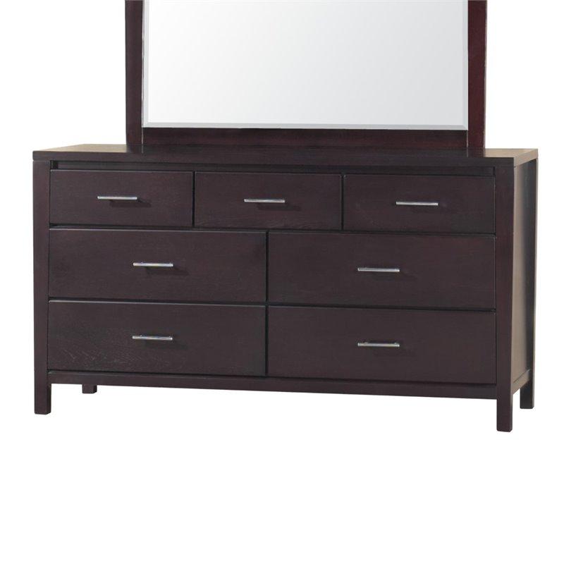 modus nevis 7 drawer double dresser in espresso