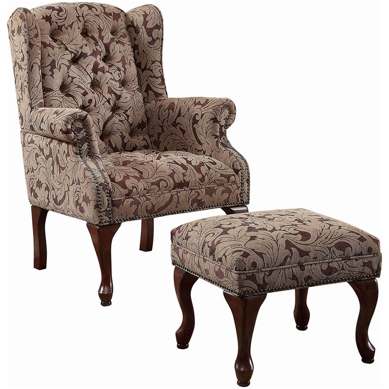 Burgundy Room Chairs Living Accent
