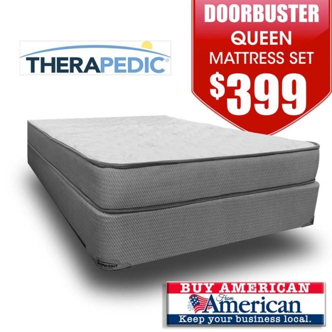 Doorbuster Ortho Comfort Firm Mattress Set Queen