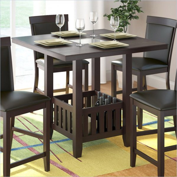 counter height storage dining table Sonax CorLiving Bistro 36