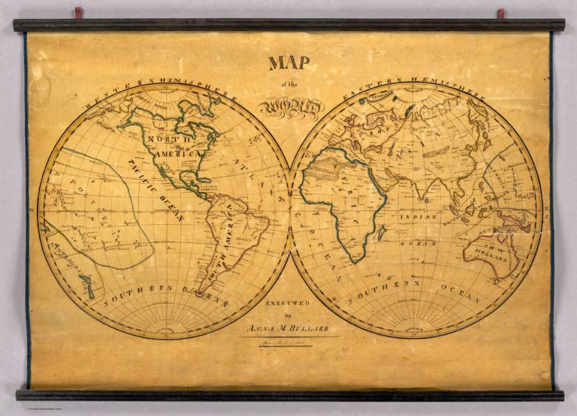 Map of the World    David Rumsey Historical Map Collection Map of the World