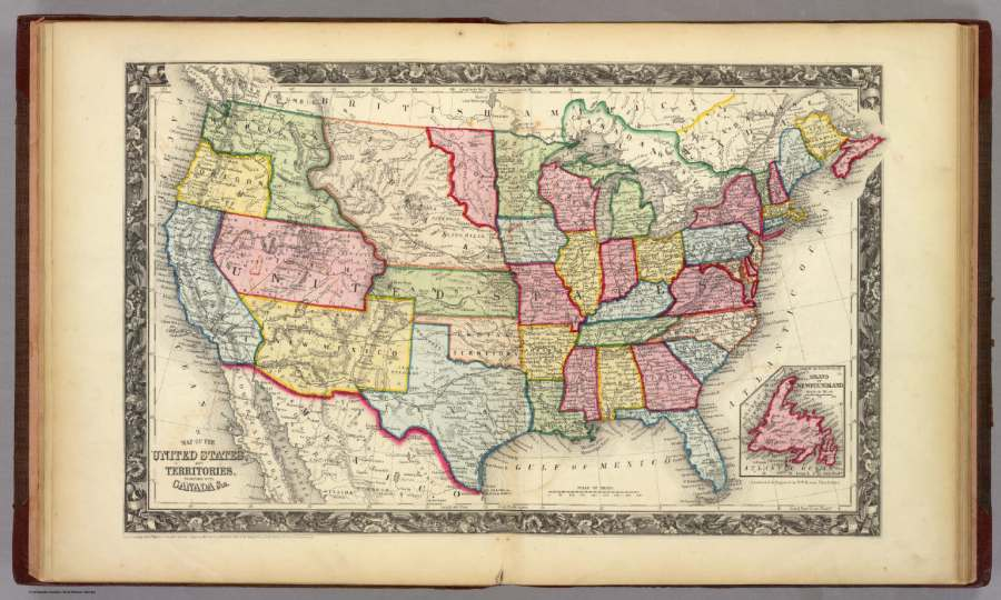 Map Of The United States  And Territories    David Rumsey Historical     Map Of The United States  And Territories