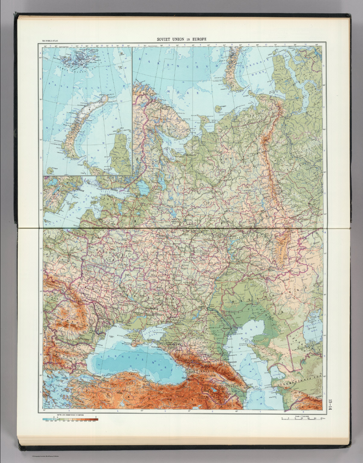 13 14  Soviet Union in Europe  The World Atlas    David Rumsey     Soviet Union in Europe  The World Atlas