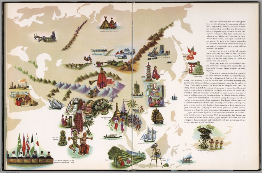 Pictorial map of Asia   David Rumsey Historical Map Collection Pictorial map of Asia