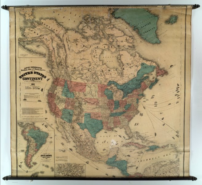 Map of North America   David Rumsey Historical Map Collection Map of North America