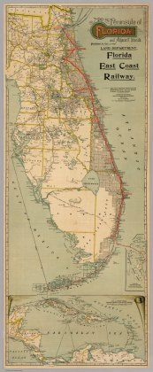 Map of the Peninsula of Florida and Adjacent Islands   David Rumsey     Map of the Peninsula of Florida and Adjacent Islands