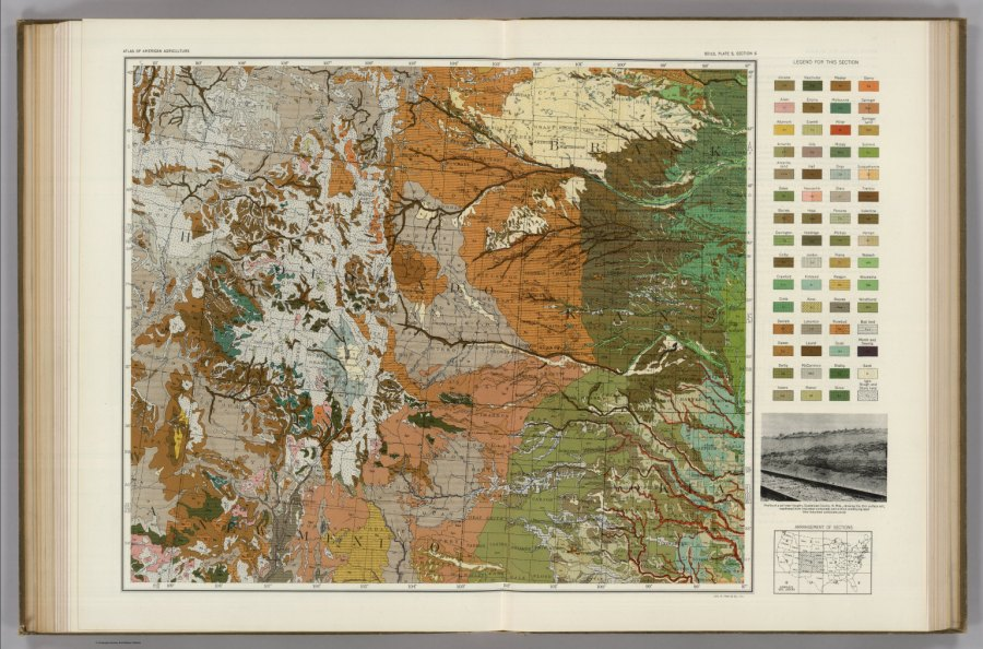 Soil Map of the United States  Section 6  Atlas of American     Soil Map of the United States  Section 6  Atlas of American Agriculture