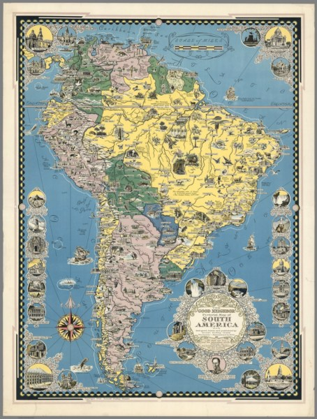 The Good Neighbor Pictorial Map of South America   David Rumsey     The Good Neighbor Pictorial Map of South America