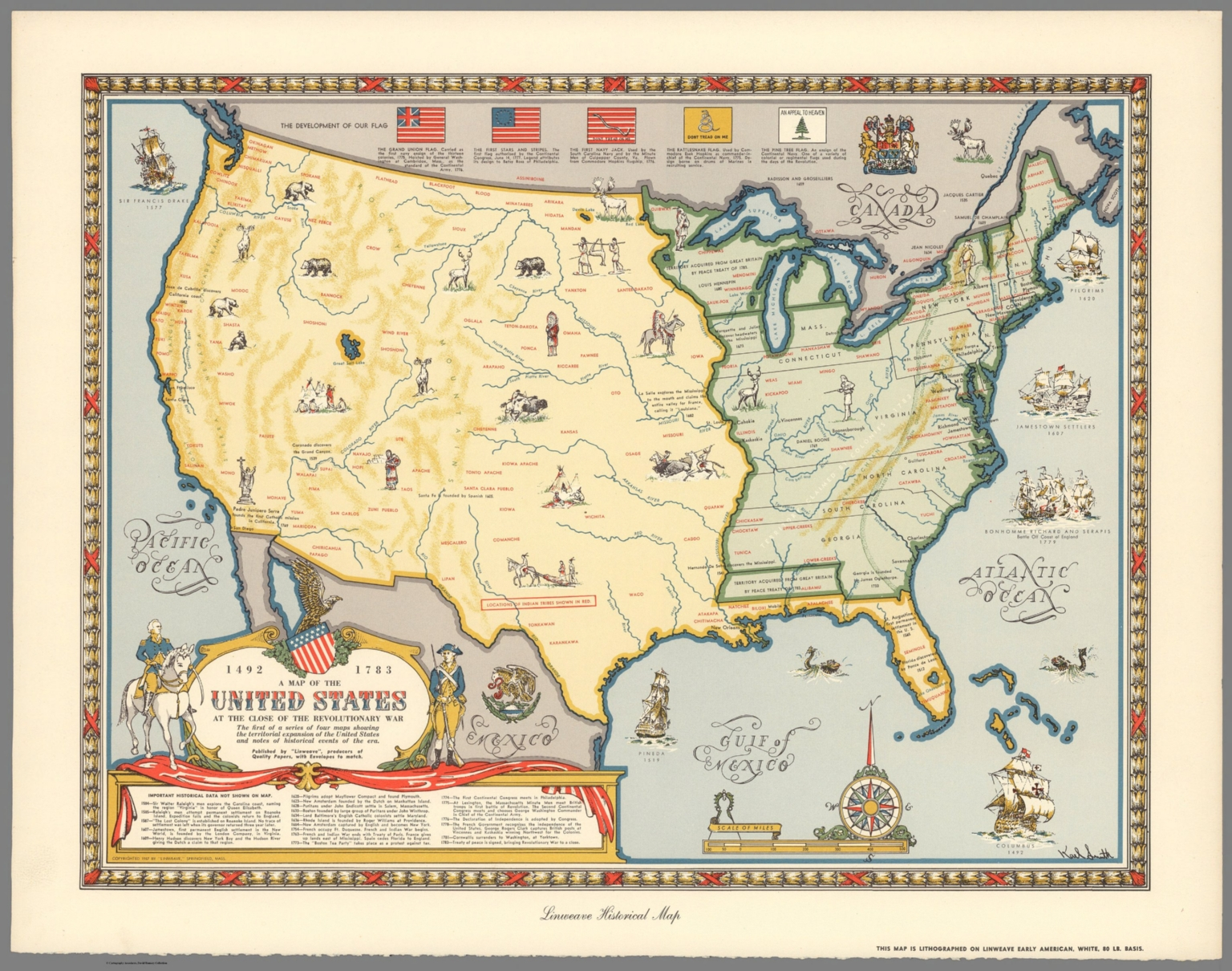 A Map Of The United States At The Close Of The Revolutionary War 1492 1783 David Rumsey Historical Map Collection
