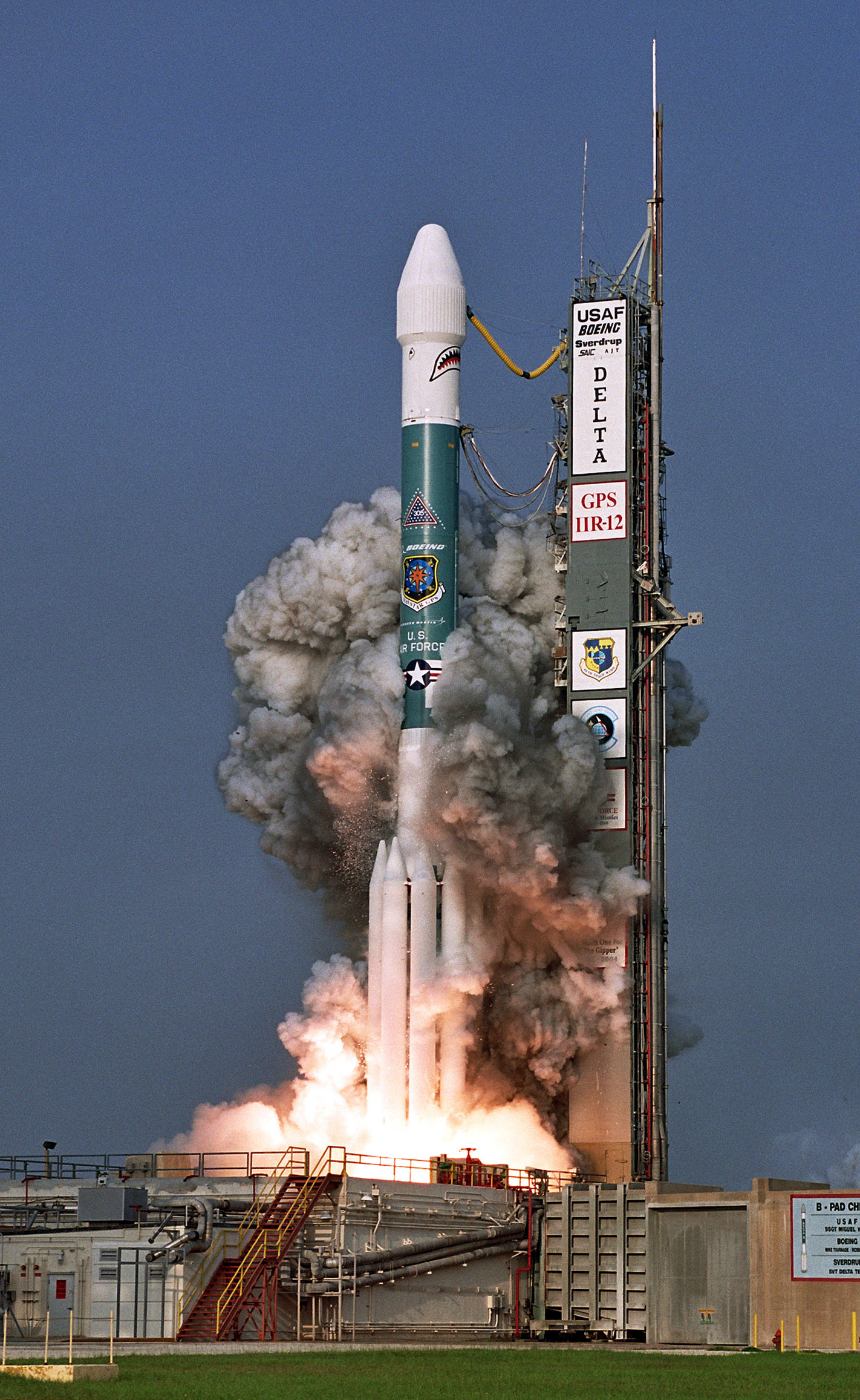 Rocket Carries Gps Satellite Into Orbit