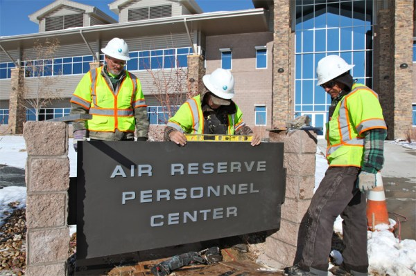 ARPC installs refurbished sign > Air Reserve Personnel ...