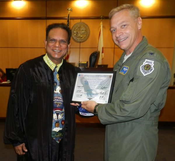 Rescue Airman presents Old Glory to Florida Judge just in ...