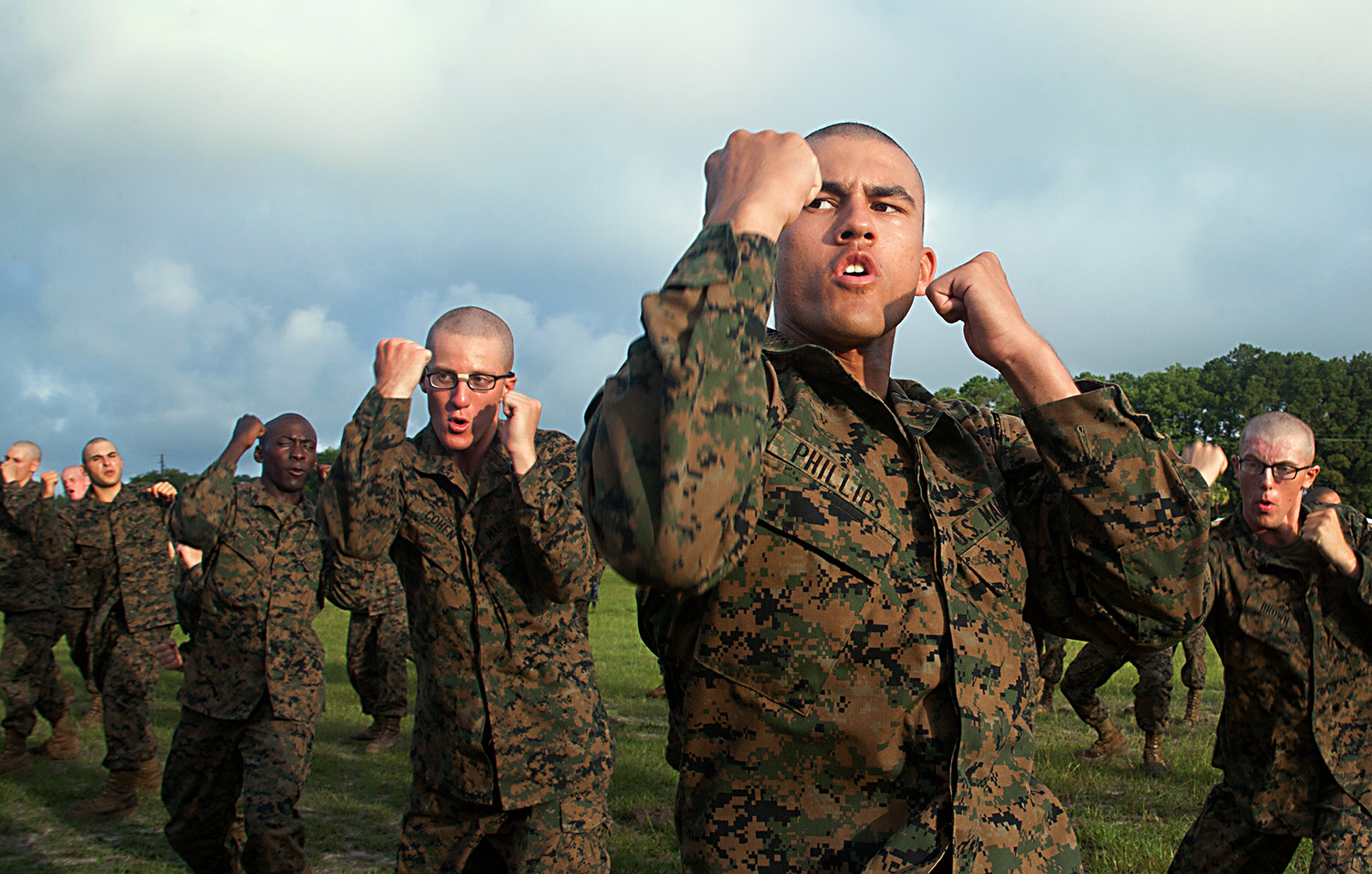 Marine Recruits Increase Endurance During Martial Arts