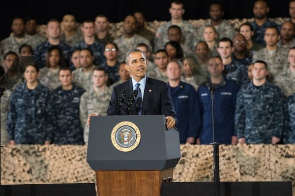 President Obama expresses gratitude to troops, civilians ...