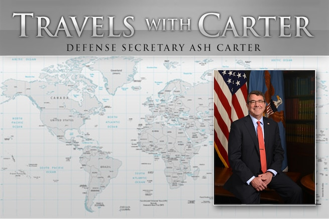 Defense Secretary Ash Carter travels to Brussels to meet with NATO defense ministers on the European Reassurance Initiative and funding for a full deterrence posture in Europe. He also will discuss the military campaign countering the Islamic State of Iraq and the Levant with coalition defense ministers.