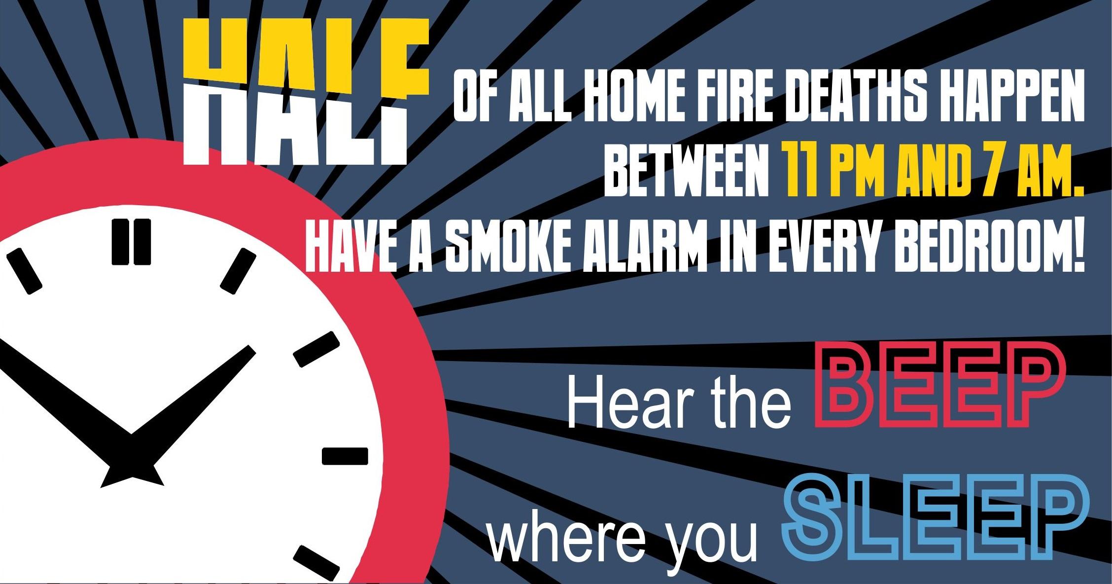 Fire Prevention Week Hear The Beep Where You Sleep Gt U
