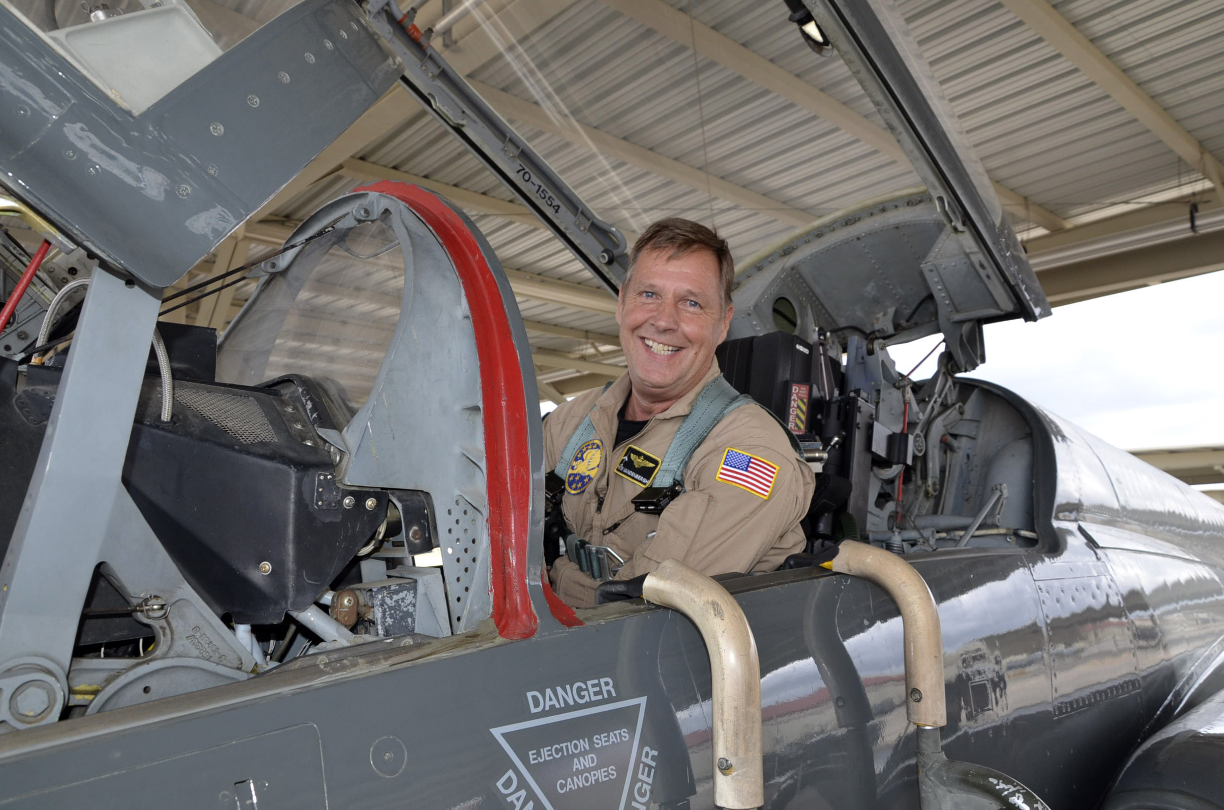 After 40 Years Retired Navy Aviator Returns To Air Force