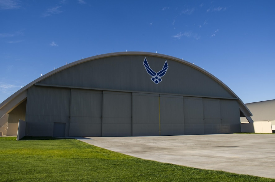 View of the new fourth building at the National Museum of the U.S. Air Force on Nov. 13, 2015. The 224,000 square foot building, which is scheduled to open to the public on June 8, 2016, is being privately financed by the Air Force Museum Foundation, a non-profit organization chartered to assist in the development and expansion of the museum's facilities. (U.S. Air Force photo)