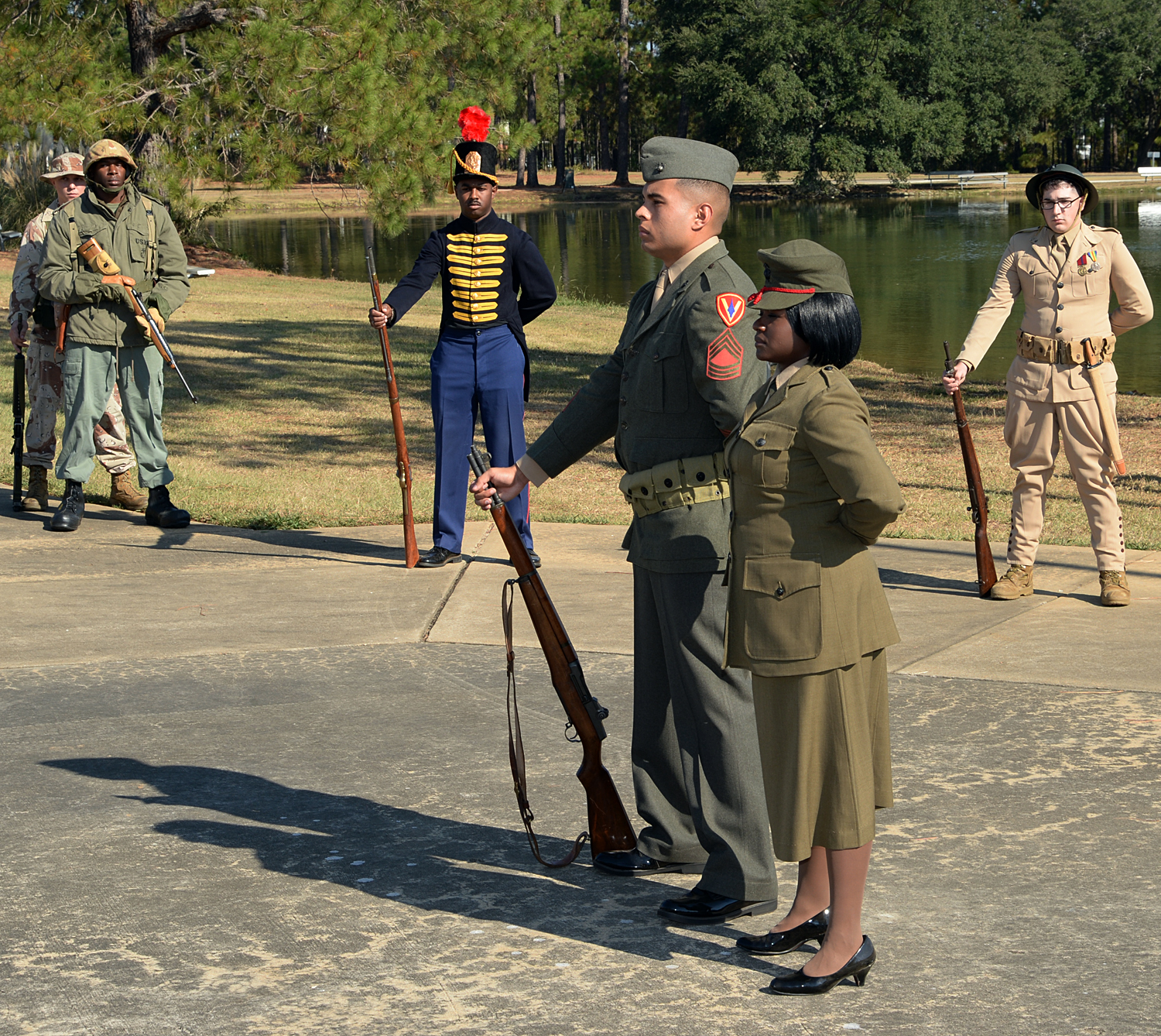 Uniform Pageant Pays Tribute To Corps Past Present Future