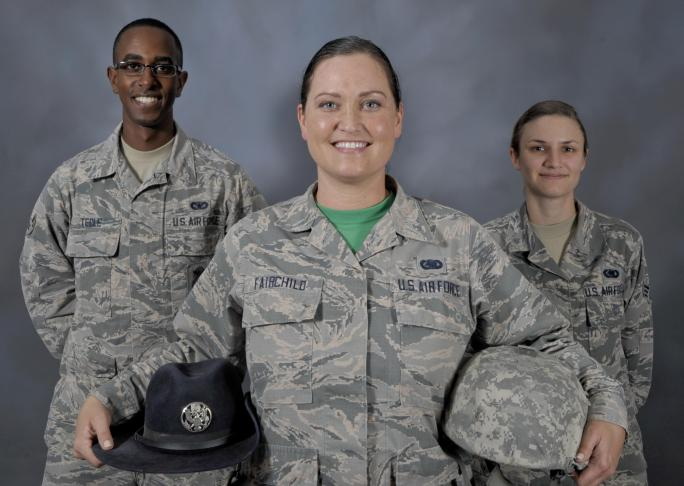 U S  Air Force Basic Training Instructor Helps Build New