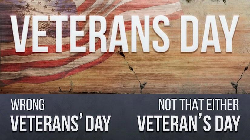 Correct spelling of Veterans Day