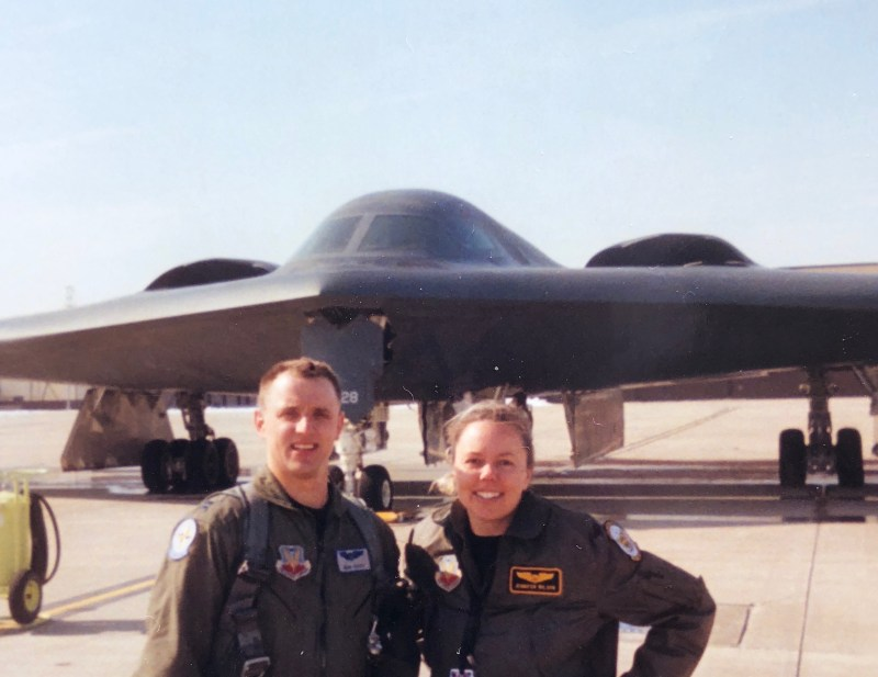 First Husband-Wife Pilots to Fly B-2 Stealth Bomber Retire