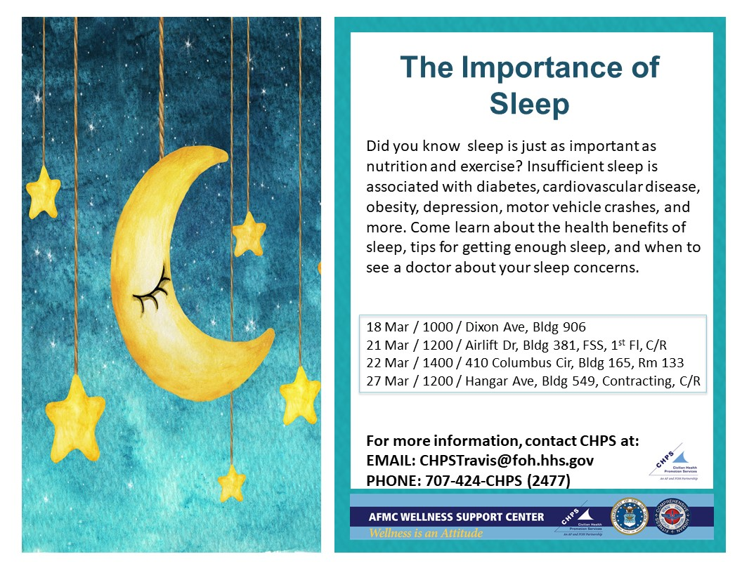 The Importance Of Sleep Gt Travis Air Force Base Gt News