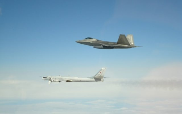 NORAD intercepts Russian bombers and fighters entering Air Defense Identification Zone. Image-NORAD