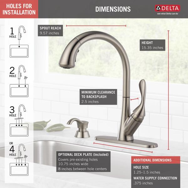Image result for Delta 19922-SSSD-DST for bathrooms