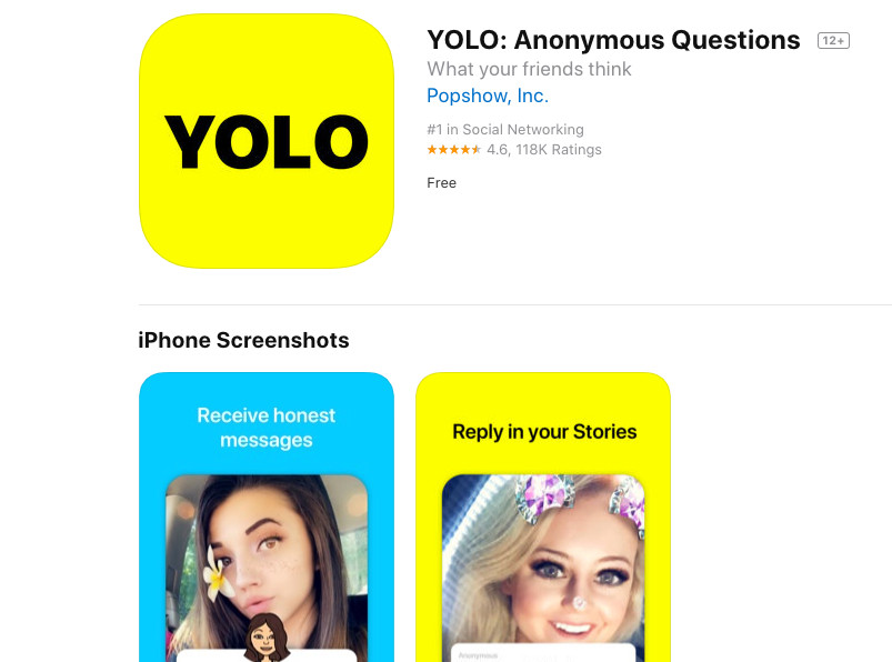 Image Result For Yolo App Anonymous Questions On Snapchat
