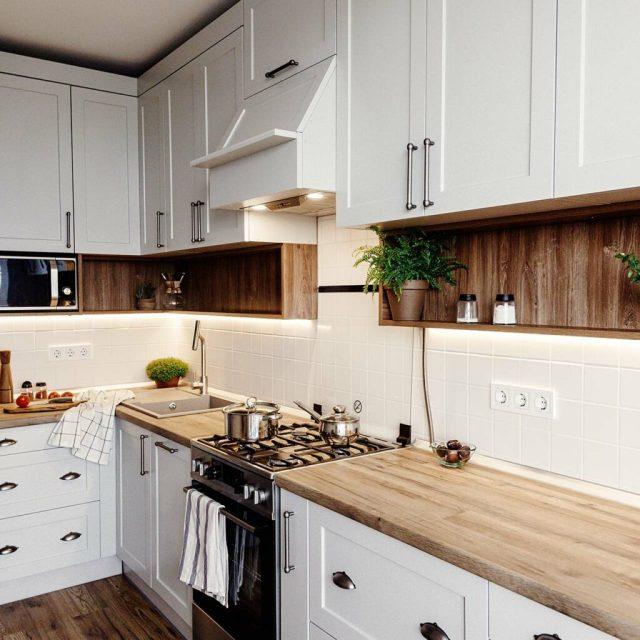 Mutfağınızdaki Ahşap Tezgahlar Bak ve Hissediyor Gibi Bir Kır Evi Getirin