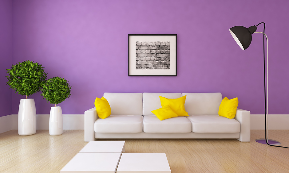 Purple Wall Paint Colours For Your Home Design Cafe