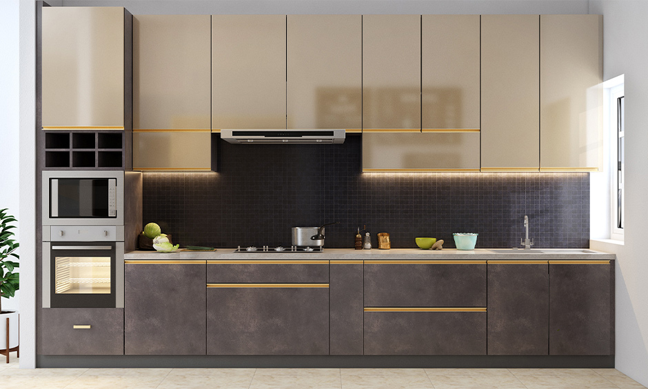 modern black and dark backsplash tiles