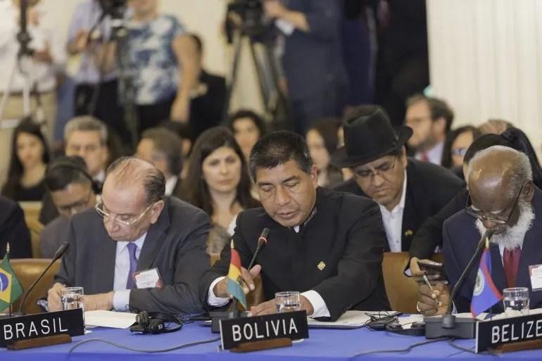 Los cancilleres de Brasil y Bolivia