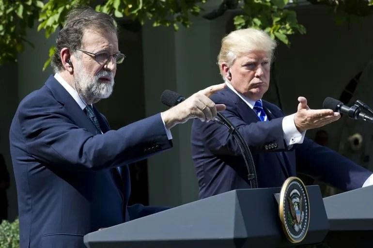 Mariano Rajoy y Donald Trump en la Casa Blanca el 26SEP17.