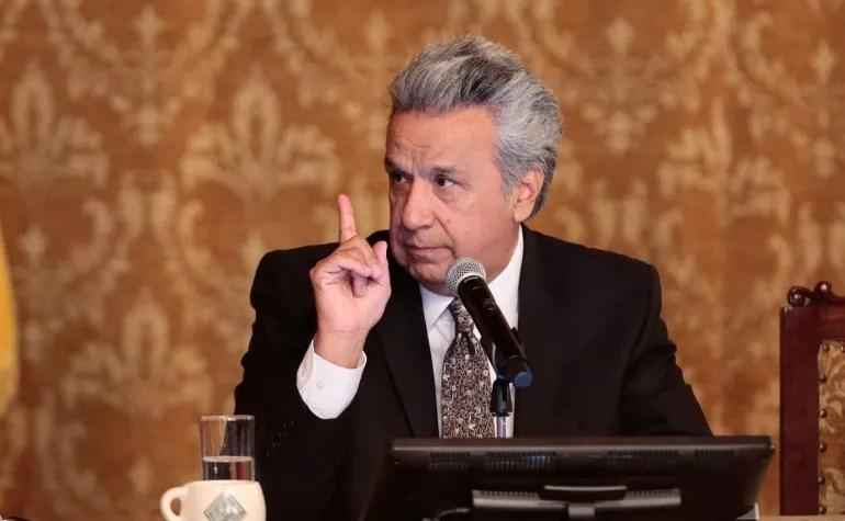El presidente de Ecuador