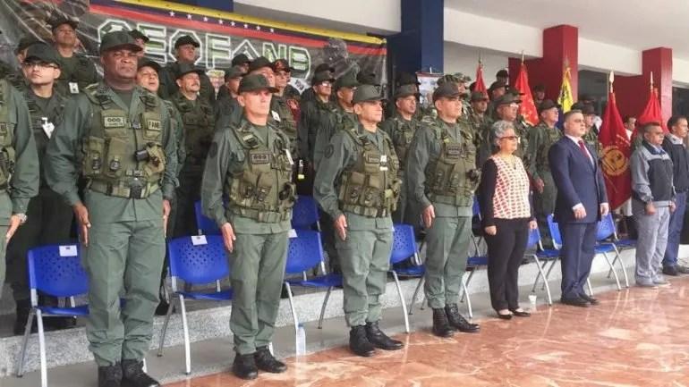 Alto mando militar y la presidenta del CNE el 09OCT17 en el acto de inicio del Plan República para las elecciones del 15OCT.