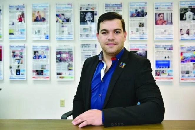 El joven políticoJuan David Vélez pertenece al partido Centro Democrático que lidera Álvaro Uribe.